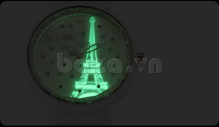 Đồng hồ nữ Mini Kinh đô ánh sáng kim chỉ giờ dạ quang