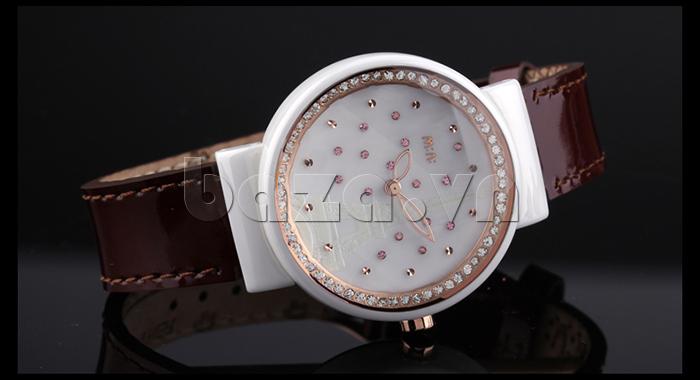 Đồng hồ nữ Mini Kinh đô ánh sáng mặt tròn cổ điển