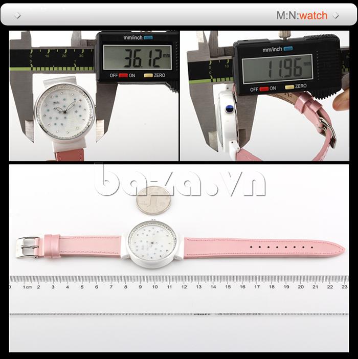 Đồng hồ nữ Mini Kinh đô ánh sáng chịu được áp lực lớn, bền bỉ