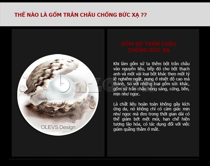 Đồng hồ nữ Mini Kinh đô ánh sáng sử dụng gốm sứ trân châu cao cấp