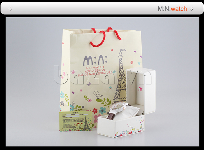 Đồng hồ nữ Mini Kinh đô ánh sáng có cả hộp đựng để dùng làm quà tặng đồng thời dễ bảo quản hơn