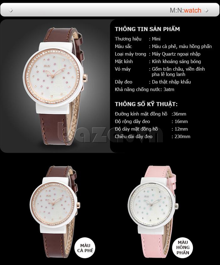 thông số kỹ thuật của Đồng hồ nữ Mini Kinh đô ánh sáng