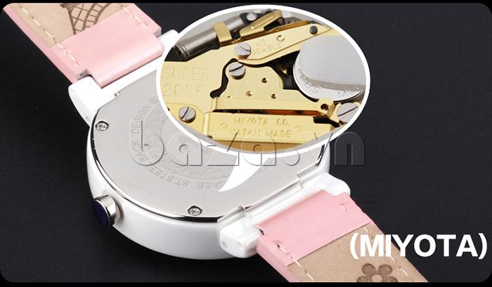 Đồng hồ nữ Mini Kinh đô ánh sáng maý chạy bền bỉ, báo giờ chuẩn xác