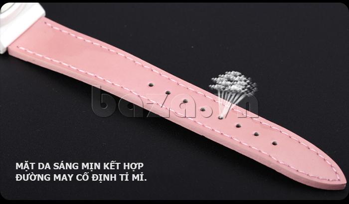 Đồng hồ nữ Mini Kinh đô ánh sáng đường may chắc chắn dây da bền đẹp