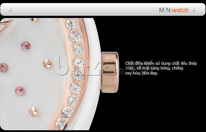 Đồng hồ nữ Mini Kinh đô ánh sáng pha lê tinh xảo, nạm thủ công tinh tế