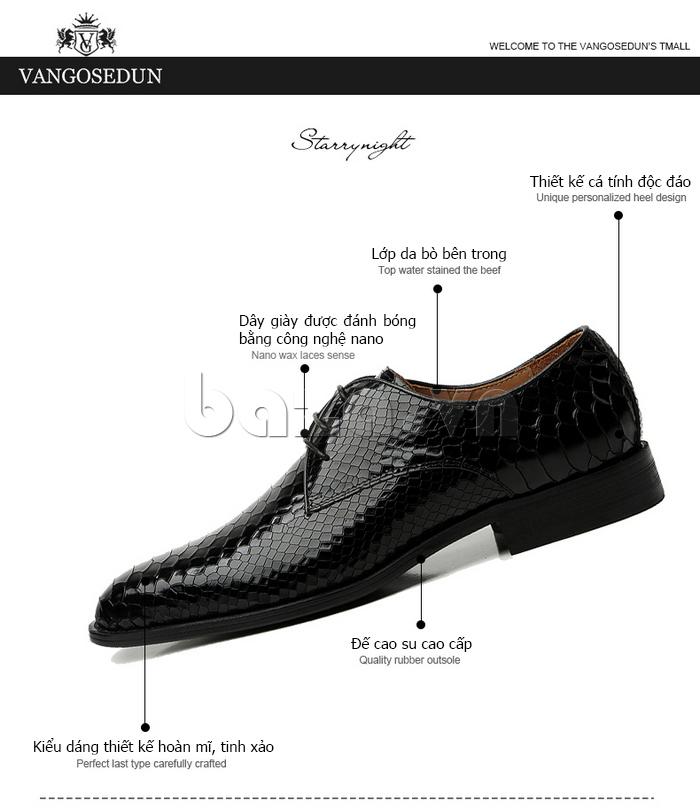 ưu điểm của Giày da nam VANGOSEDUN Y1012