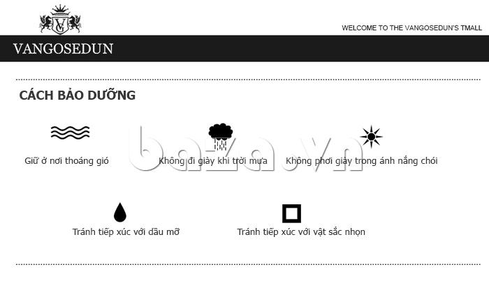 cách bảo dưỡng của Giày da nam VANGOSEDUN Y1012
