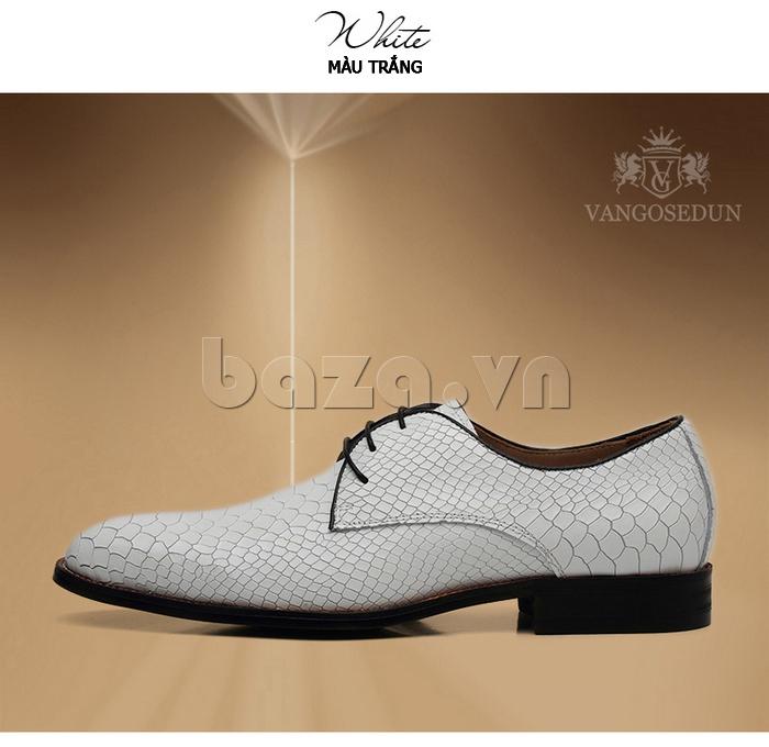 Giày da nam VANGOSEDUN Y1012 màu trắng mê hoặc