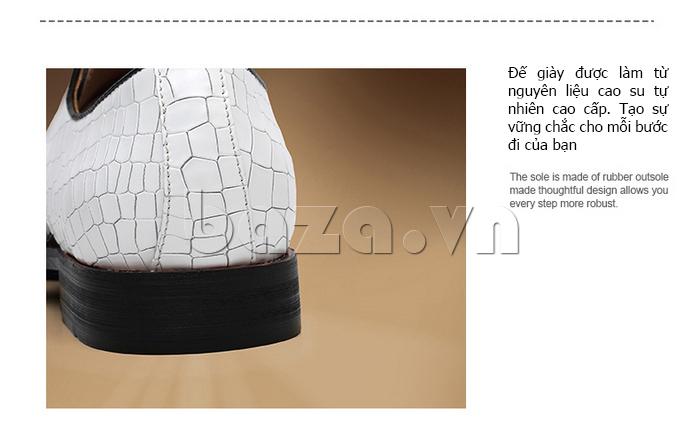 Giày da nam VANGOSEDUN Y1012 đế cao tôn dáng