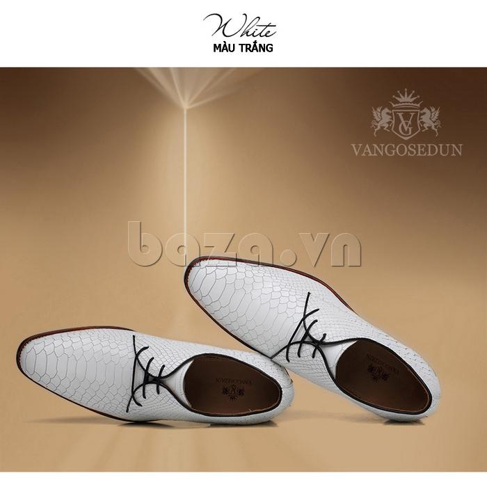 Giày da nam VANGOSEDUN Y1012 mũi nhọn cổ điển