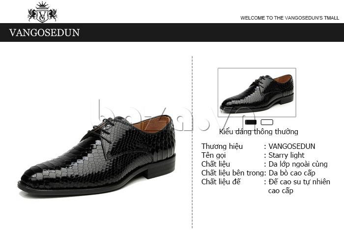 thông tin chi tiết của Giày da nam VANGOSEDUN Y1012