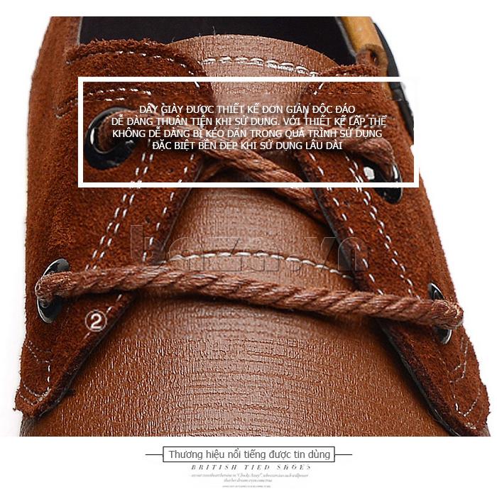 Giầy nam da bò Simier 8109 - dây giày chắc chắn