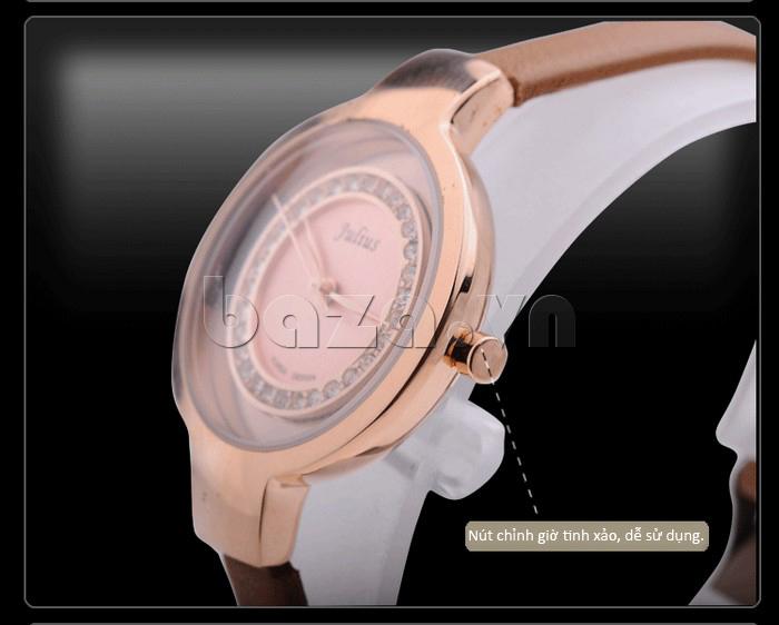 Đồng hồ nữ Julius JA-680 tạo nên góc nhìn hoàn hảo, giúp bạn luôn tỏa sáng