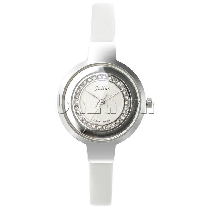 Đồng hồ nữ Julius JA-680 màu trắng trang nhã