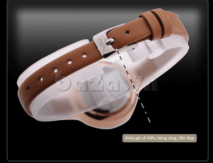 Đồng hồ nữ Julius JA-680 dây da mềm mịn, thoáng khí