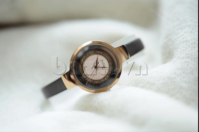 Đồng hồ nữ Julius JA-680 đường viền sáng bóng