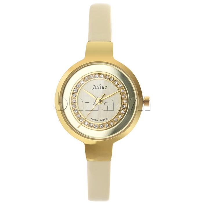 Đồng hồ nữ Julius JA-680 đường viền sáng bóng, sang trọng