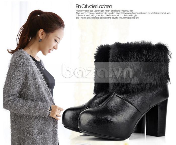 Giày bốt nữ thời trang YiYa dòng ankle boots