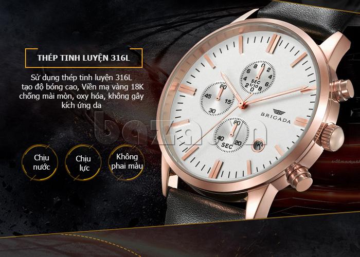 Đồng hồ nam Brigada 3017 phong cách