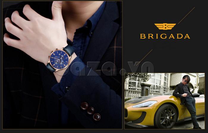 Đồng hồ nam Brigada 3017 thiết kế lạ