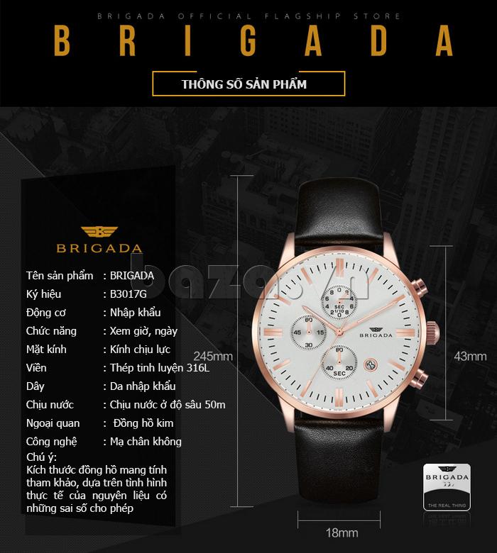 Đồng hồ nam Brigada 3017 chất lượng