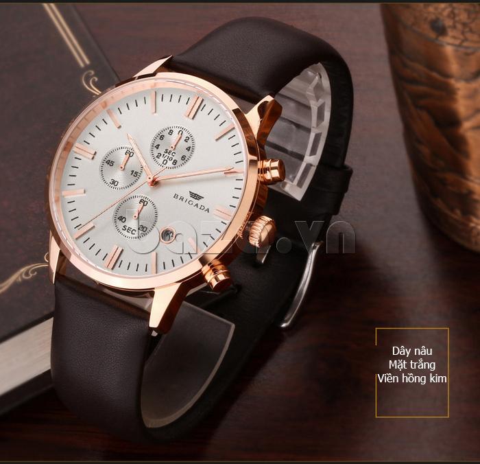 Đồng hồ nam Brigada 3017 thiết kế phong cách