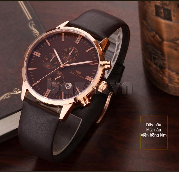 Đồng hồ nam Brigada 3017 thiết kế chất lượng