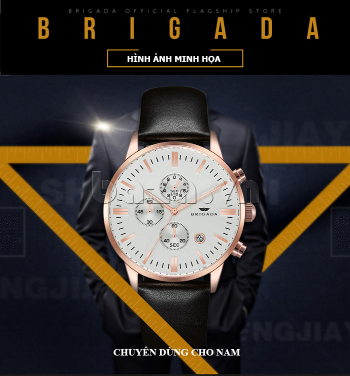 Đồng hồ nam Brigada 3017 bền