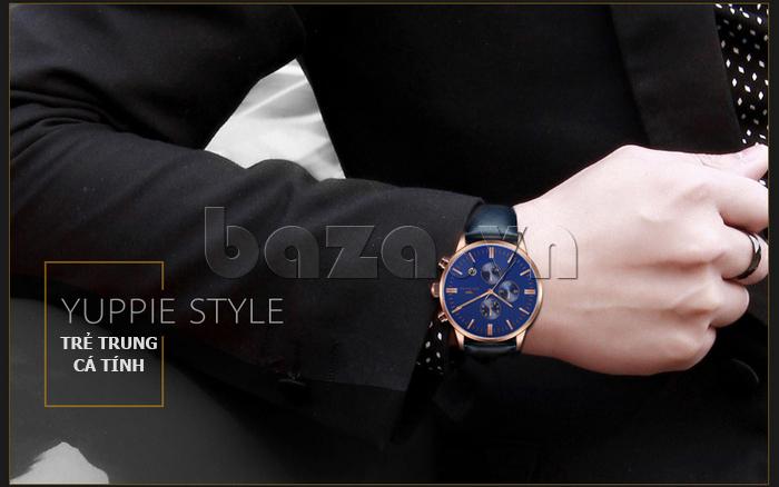 Đồng hồ nam Brigada 3017 thiết kế độc