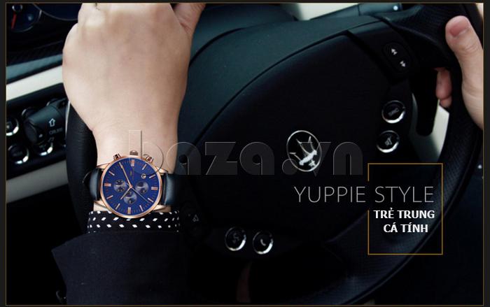 Đồng hồ nam Brigada 3017 thiết kế đẹp
