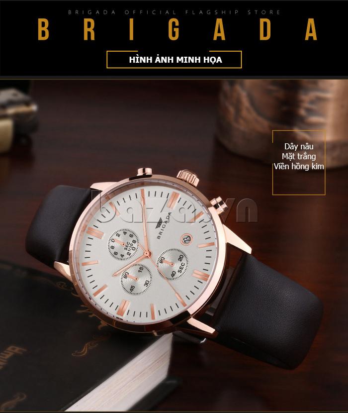 Đồng hồ nam Brigada 3017 thiết kế thời trang