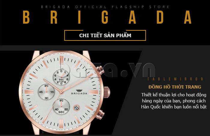 Đồng hồ nam Brigada 3017 tuyệt vời