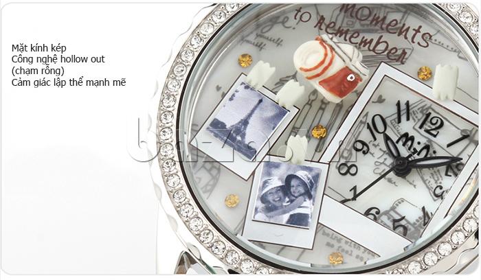 Đồng hồ nữ Mini Moment to Remember mặt kính kép chịu lực tốt
