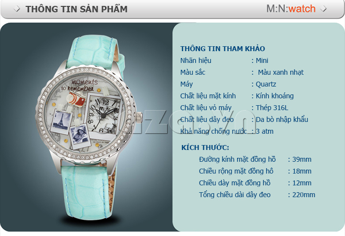 Đồng hồ nữ Mini Moment to Remember chất liệu cao cấp