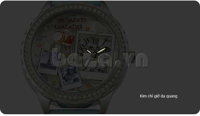 Đồng hồ nữ Mini Moment to Remember kim chi giờ dạ quang