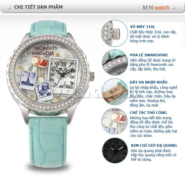 Đồng hồ nữ Mini Moment to Remember đính pha lê tinh xảo
