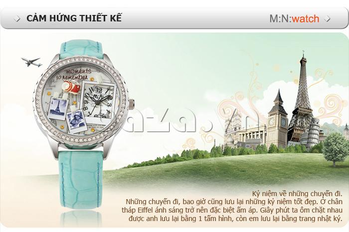 Cảm hứng thiết kế từ những chuyến đi được mang vào trong chiếc đồng hồ nữ Mini Moment to Remember
