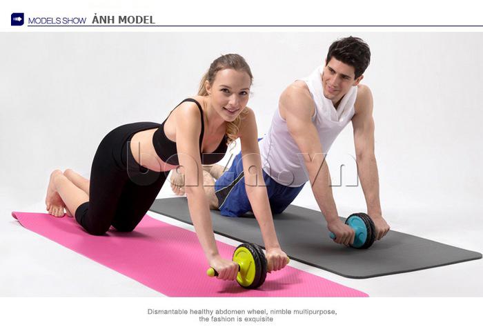 Bộ dụng cụ bánh xe tập thể dục EG ấn tượng