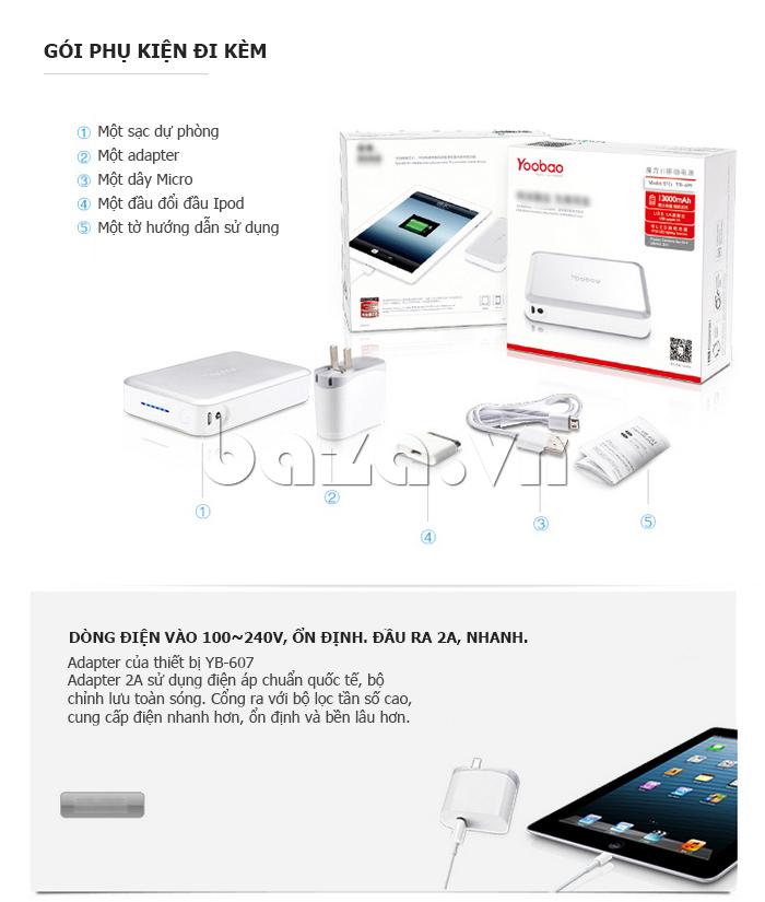 Pin dự phòng di động 13000mA Yoobao YB659 phụ kiện điện thoại hot