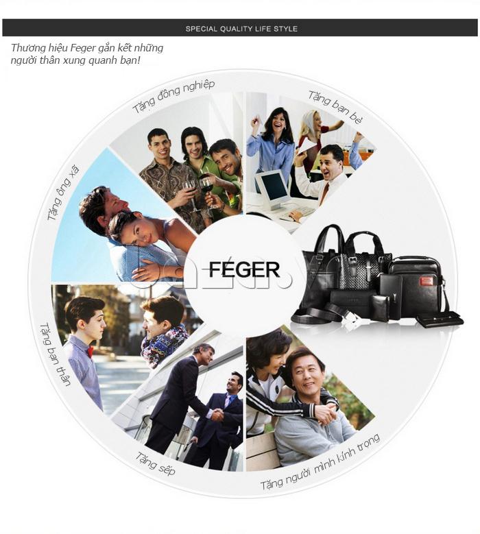 Gợi ý tặng quà cùng với Túi xách nam thương gia Feger 951-2