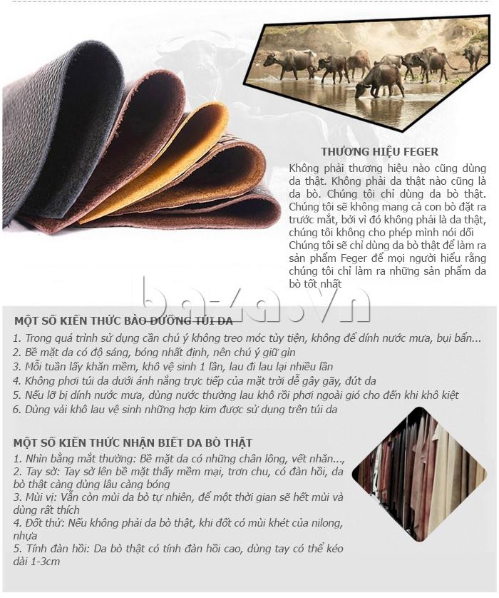 Hướng dẫn bảo quản Túi xách nam thương gia Feger 951-2