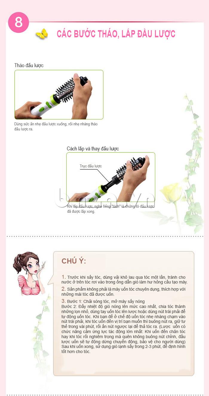 các bước khi sử dụng Máy uốn tóc tự động Pritech HS-688