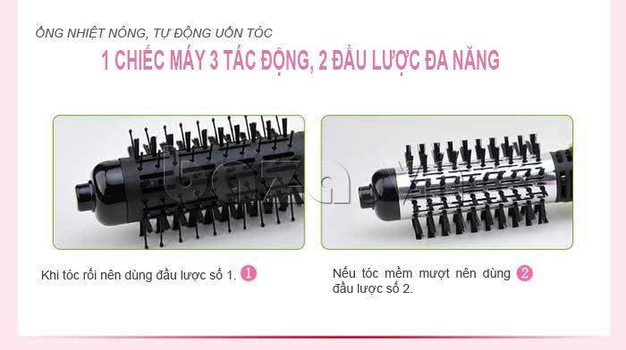 Máy uốn tóc tự động Pritech HS-688 có nhiều bộ phận