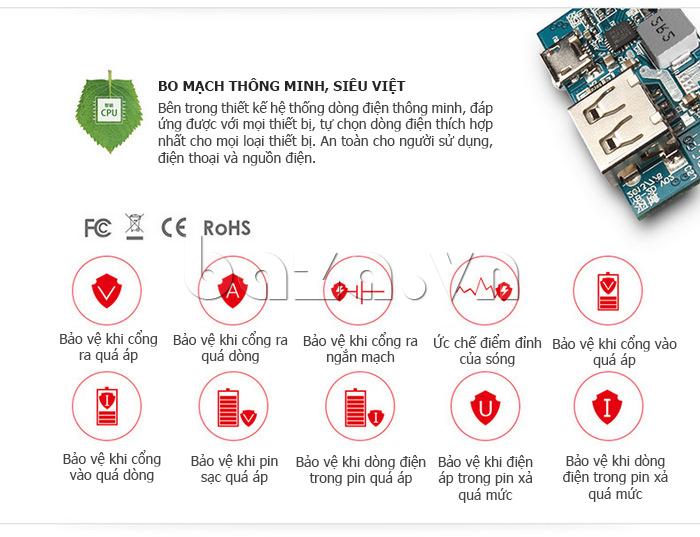 Pin dự phòng di động 6000mAh Yoobao YB-6023 ấn tượng