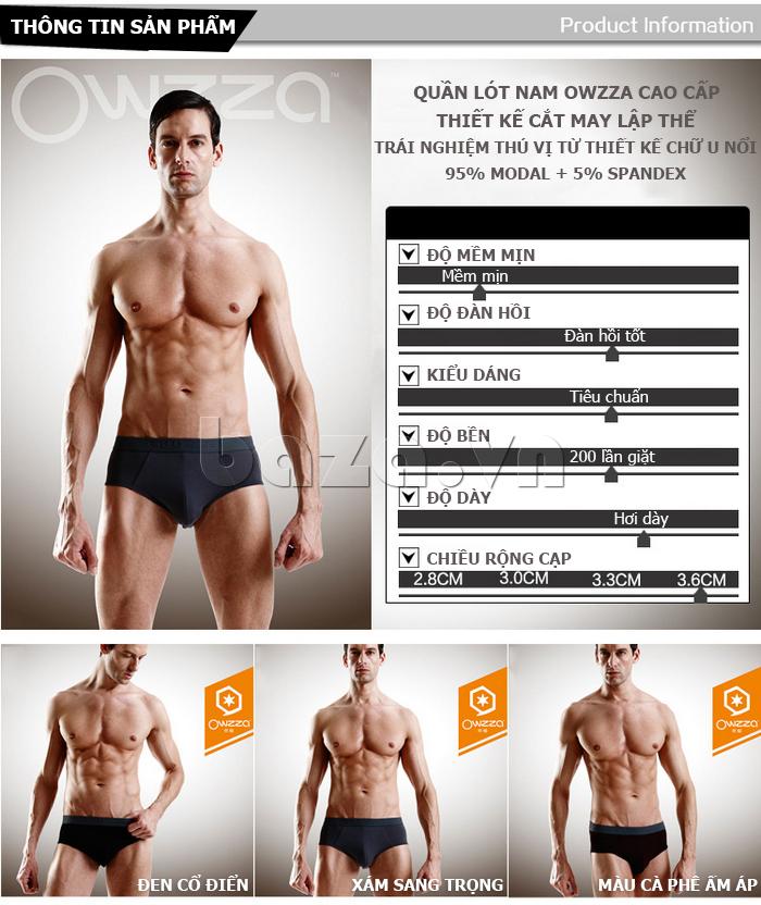 Thông tin quần lót nam OWZZA