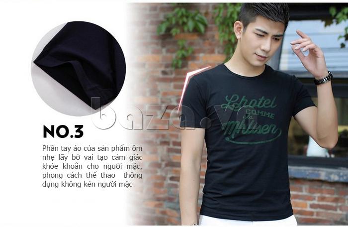 Áo T-Shirt nam  thêu chữ Sinhillze 804