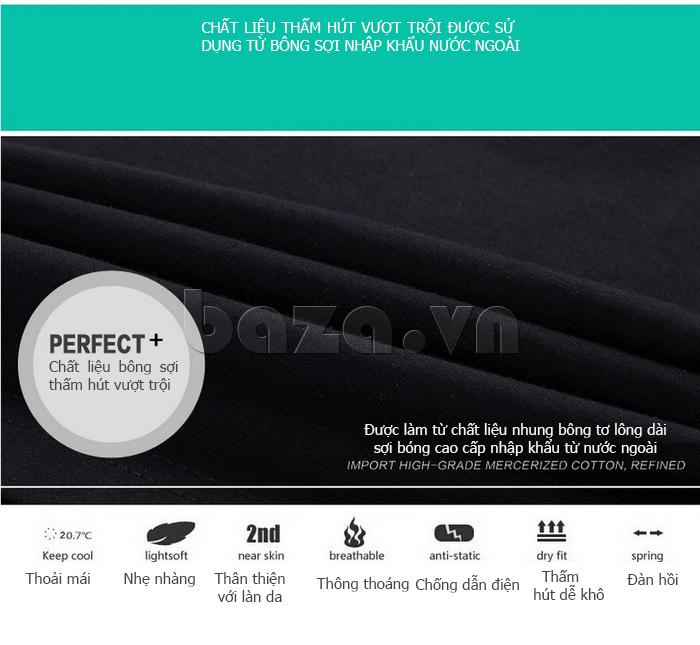 Áo T-Shirt nam cổ tròn thêu chữ Sinhillze 804 chất liệu bông sợi tự nhiên