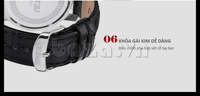 đồng hồ nam Time2U Topspeed kiểu khóa gài dễ dàng điều chỉnh