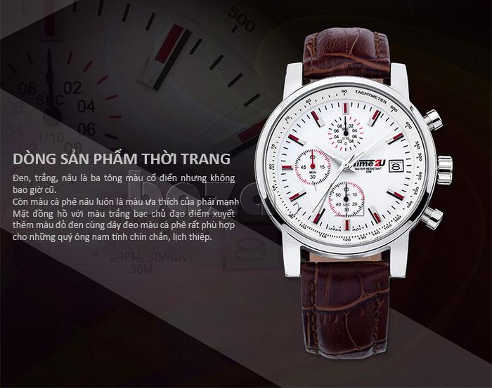 đồng hồ nam Time2U Topspeed là dòng đồng hồ thời trang cho phái mạnh