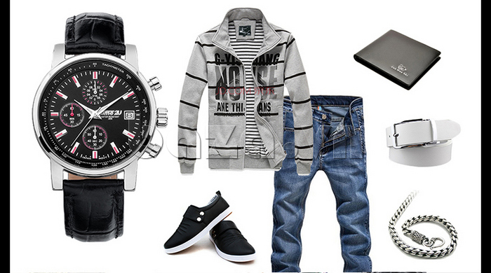 Mix đồ phong cách casual với đồng hồ nam Time2U Topspeed